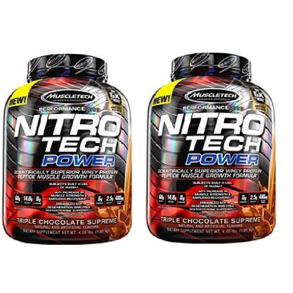 【2個セット】 Muscle Tech ナイトロテックパワー 1.8kg (NITRO TECH POWER ) [海外直送品] (トリプルチョコレートシュープリーム) [並行輸入品] B01I97G95K