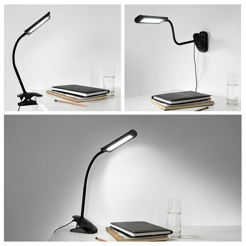 oak leaf desk lamps flexible gooseneck dimmable led table lamp 5w