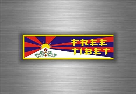 Aufkleber Sticker Auto Motorrad Flagge Tibet Free Tibetain