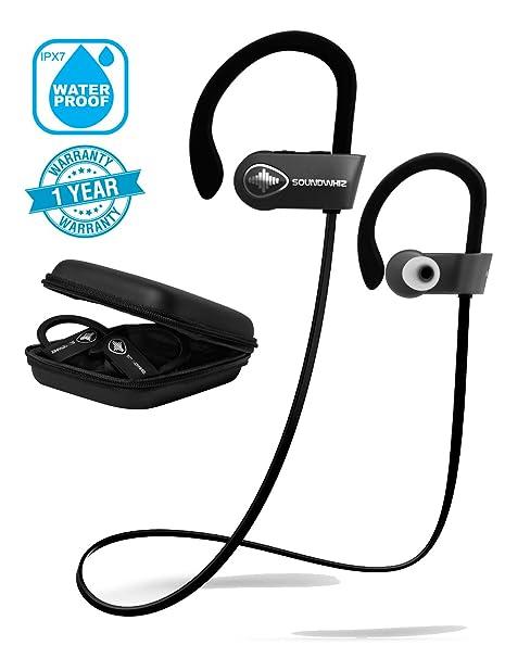 92d014c88dd Wireless Earbuds in Ear Headphones. SoundWhiz Turbo Sweatproof Workout  Earbuds with Microphone. Best Bluetooth