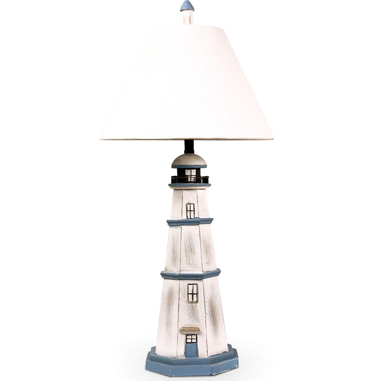 Tischlampe Boot Shabby Chic Design Nautic Tischleuchte mit Aufbewahrung Maritim