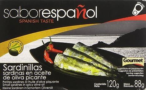 Gourmet Sabor Español Sardinillas en Aceite de Oliva Picante - 88 g