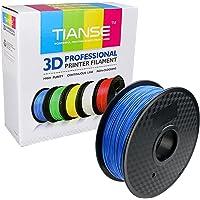 TIANSE 1KG Blue 1.75mm PLA 3D Printer Filament, Dimensional Accuracy +/- 0.03 mm, 2.2 Pound Spool