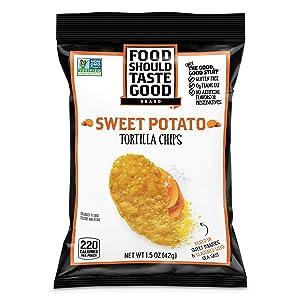 Food Should Taste Good Tortilla Chips, Sweet Potato, 1.5 Oz (Pack of 24)