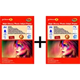 Gocolor Inkjet High Glossy Photo Paper 240 Gsm X 2 Pack Combo (A4Zize / 40 Sheet ) ( ****Big Saving ****)