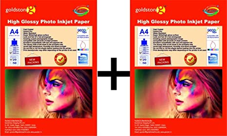 Gocolor High Glossy Inkjet Photo Paper 240Gsm A4 20 Sheets x 2 pack combo Photo Paper