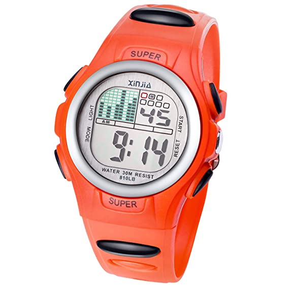 Digital Watches for Kids Boys Watch Girls Boys Watch Waterproof Sports Watches Digital Watch with Alarm/Stopwatch, Date & Week and Calendar, 7 LED ...