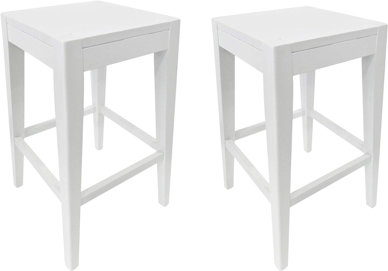 "Christopher Knight Home Elaina 26"" Wooden Counter Stool (Set of 2), White Finish"