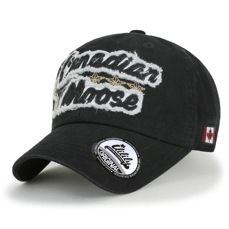 ililily Canadian Moose Patch Baseball Cap Cotton Vintage Distressed Trucker Hat