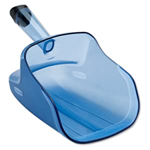 Rubbermaid Commercial Hand-Guard Ice Scoop, 74-Ounce, Transparent Blue, FG9F5000TBLUE