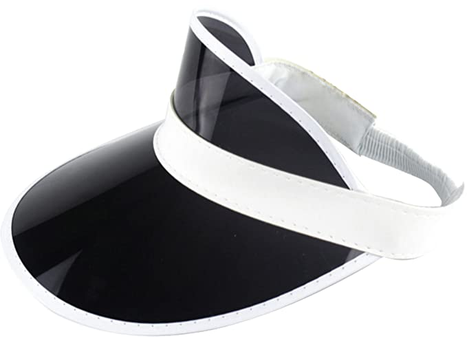 a97cc8dccfcc2 Ababalaya Unisex SPF 50+ UV Protection PVC Wide Brim Transparent Sun Visor  Hat (Black