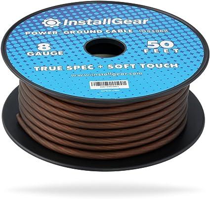 touch audio wiring amazon com installgear 8 gauge black 50ft power ground wire true  amazon com installgear 8 gauge black