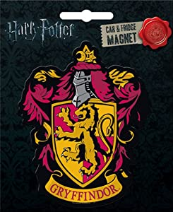 Ata-Boy Harry Potter Die-Cut Gryffindor Crest Magnet for Cars, Refrigerators and Lockers
