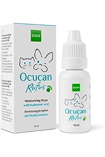 Ocucan Gotas Hidratantes Para Ojos de Perros y Gatos. Gotas Humectantes con Ácido Hialurónico -