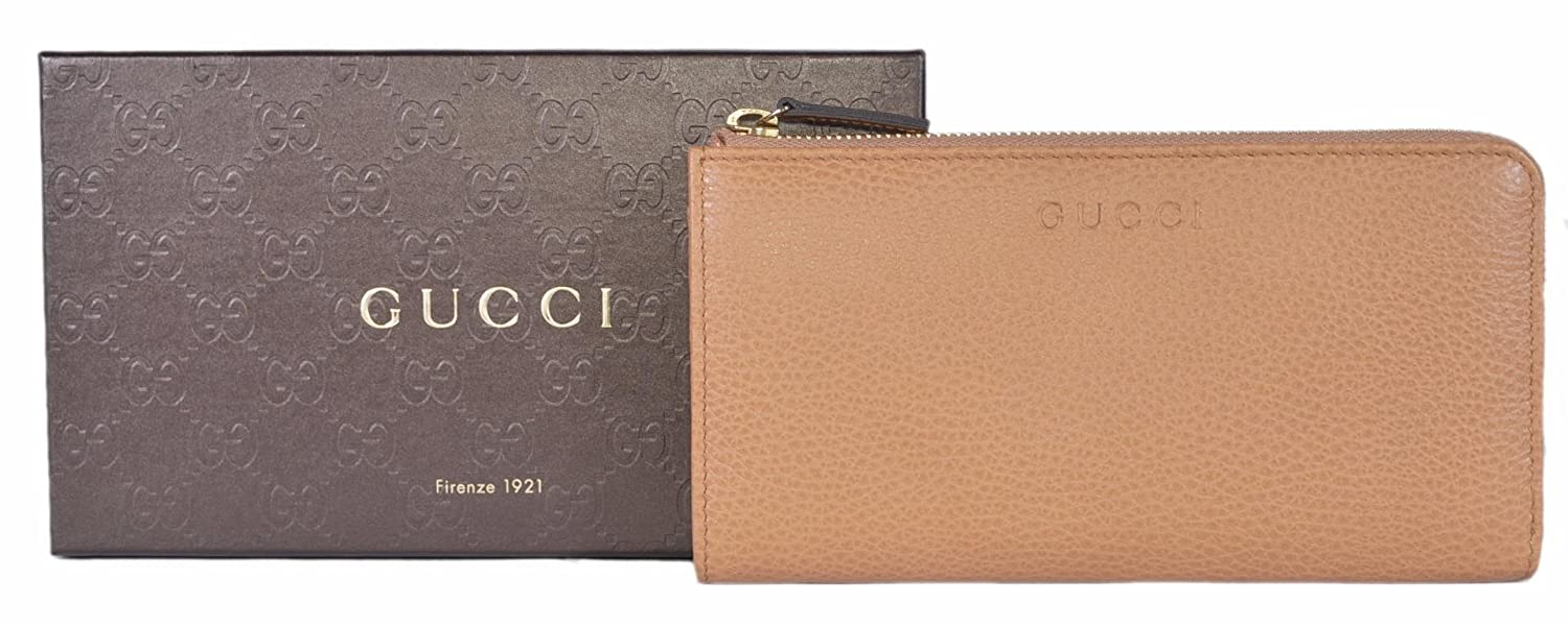 eb570e60e715 Gucci Women's Leather Zip Wallet (Whisky Beige) at Amazon Women's Clothing  store: