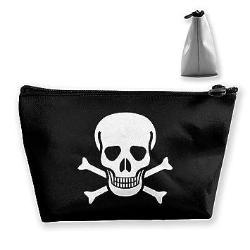 9f67faf08963 Amazon.com : Skull And Crossbones Cosmetic Bags Portable Travel ...