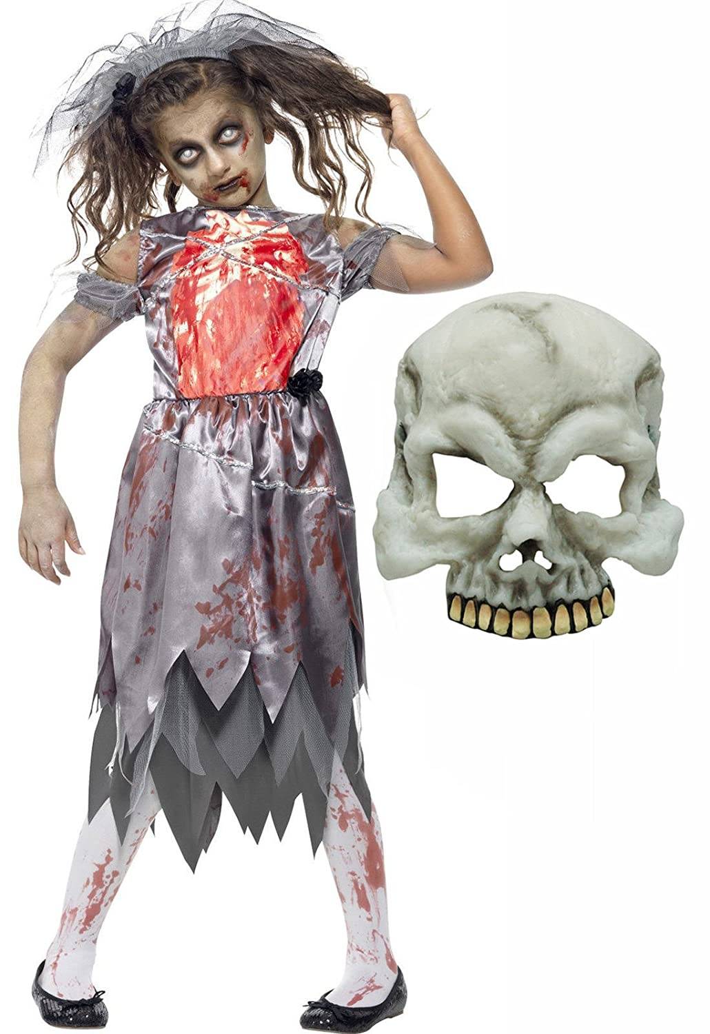 Halloween Costumes For Girls Age 13 14.Zombie Dead Corpse Bride Girls Halloween Costume With Mask