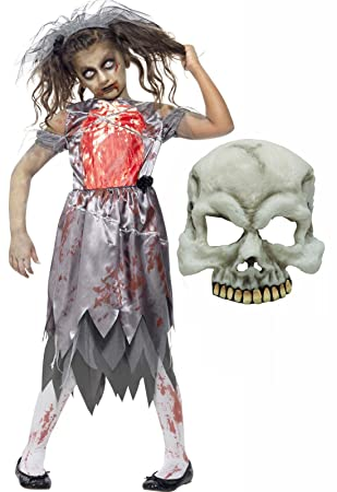 Halloween Costumes For Girls Age 13.Zombie Dead Corpse Bride Girls Halloween Costume With Mask