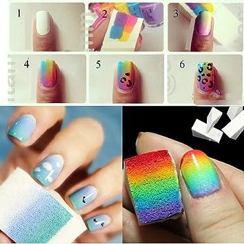 Amazon Dzt1968 8pc Gradient Color Nail Art Sponges Stamping