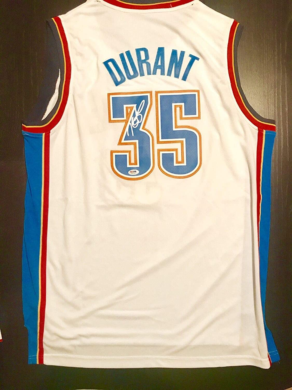 quality design b6c2d 7882d Kevin Durant Hand Autographed Signed Oklahoma City Thunder ...