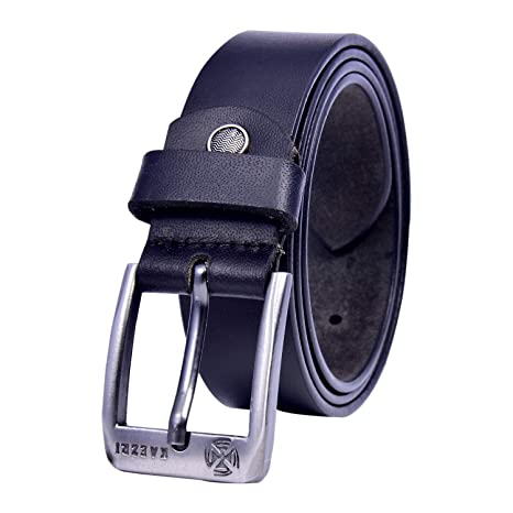 KAEZRI Formal/Casual Black Genuine Leather Belts For Men