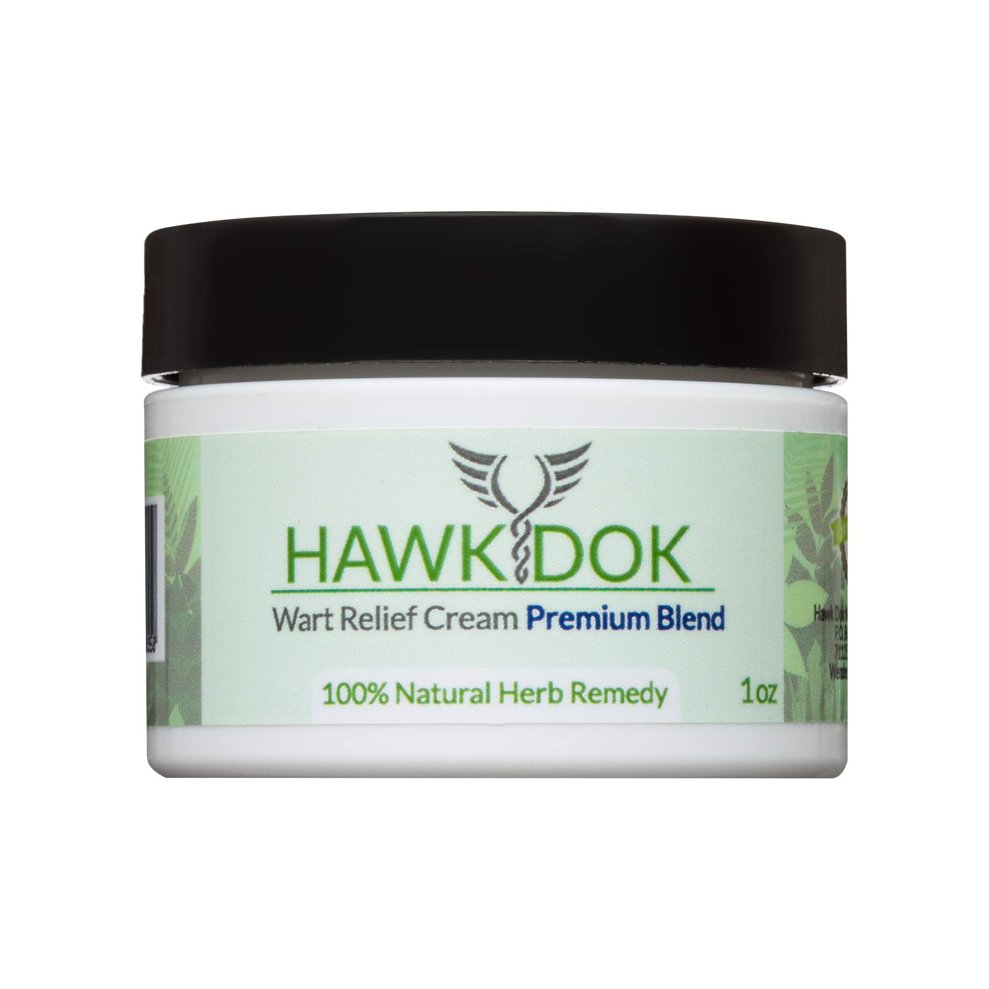 Hawk Dok Genital Wart Relief Cream, Herbal Natural Warts Relief Premium Blend for Men and Women - 1oz by Hawk Dok