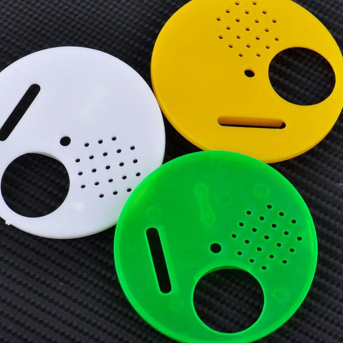 TOOGOO 12pcs 3 colores apicultores colmena caja entrada puertas 68mm herramientas apicultura equipo para la barra superior colmenas Nuc