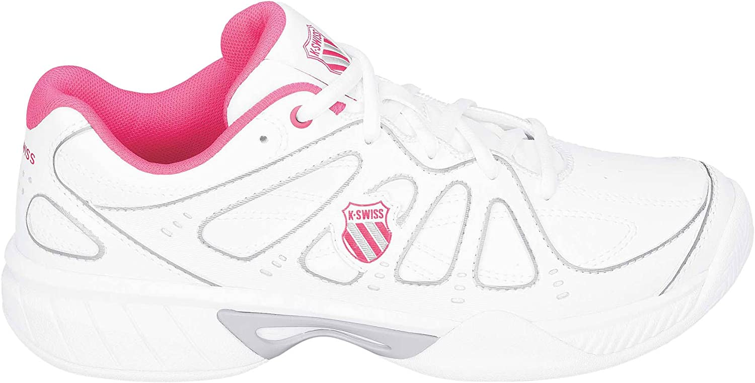 K-Swiss PerformanceKS TFW Express 100-WHITE/NEON Red - Zapatillas de Tennis Unisex Adulto, Mujer, Multicolore - Blanc/Rouge, 8: Amazon.es: Deportes y aire libre