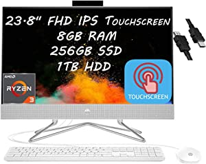 2021 Flagship HP 24 All in One Desktop Computer 23.8