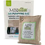 Moso Natural Air Purifying Bag Odor Eliminator for Cars, Closets,Bathrooms and Pet Areas Natural Color, 200-Gm