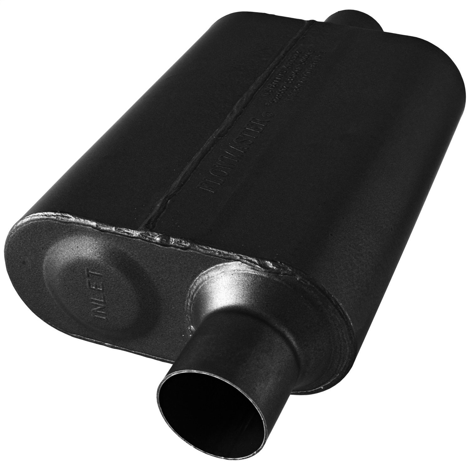 Flowmaster 8042541 40 Series Muffler 409S Aggressive Sound 2.50 Offset IN 2.50 Center OUT