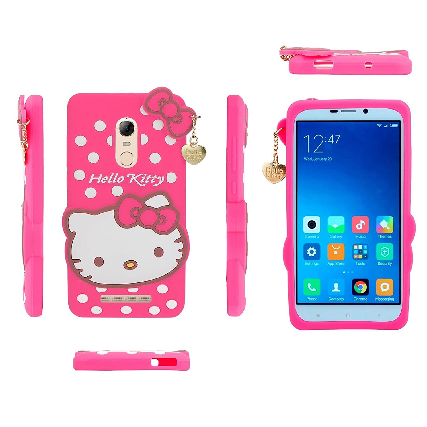 factory authentic 6b6cc fc2e6 MI NOTE 3 HELLO KITTY BACK COVER FOR XIAOMI REDMI NOTE: Amazon.in ...
