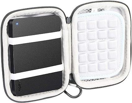 co2CREA ハードケースバッグ 対応 東芝TOSHIBA Canvio USB3.2(Gen1) ポータブルHDD 1TB 2TB 4TB (ケースのみ)