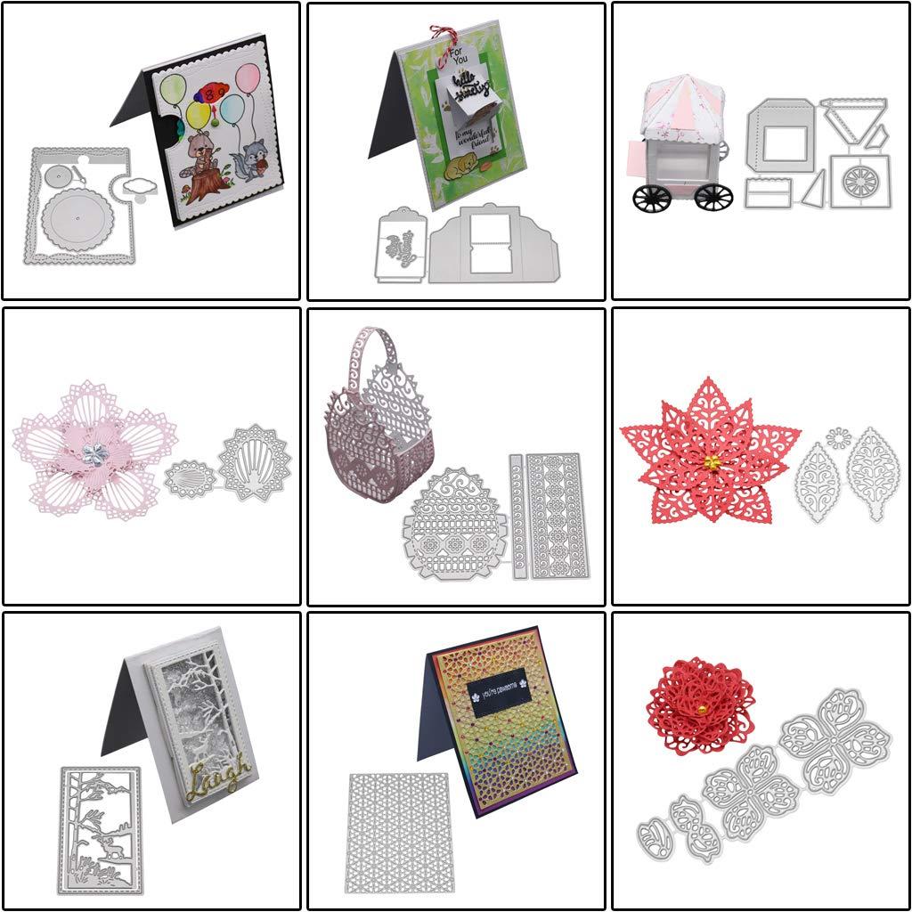 Yanhonin Recortes Dies de Decoupe /Plantilla Plantilla Dies Scrapbook Bricolaje /álbum de Navidad de Tuercas Embossing Card /álbum de Recortes DIY/