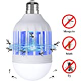 Bug Zapper Light Bulb, 2 in 1 Electronic Insect Killer, Mosquito Killer Lamp, Fly Killer, Built in Insect Trap, Fits in 110V E26/E27 Light Bulb Socket, Suit for Indoor Outdoor Porch Patio Backyard