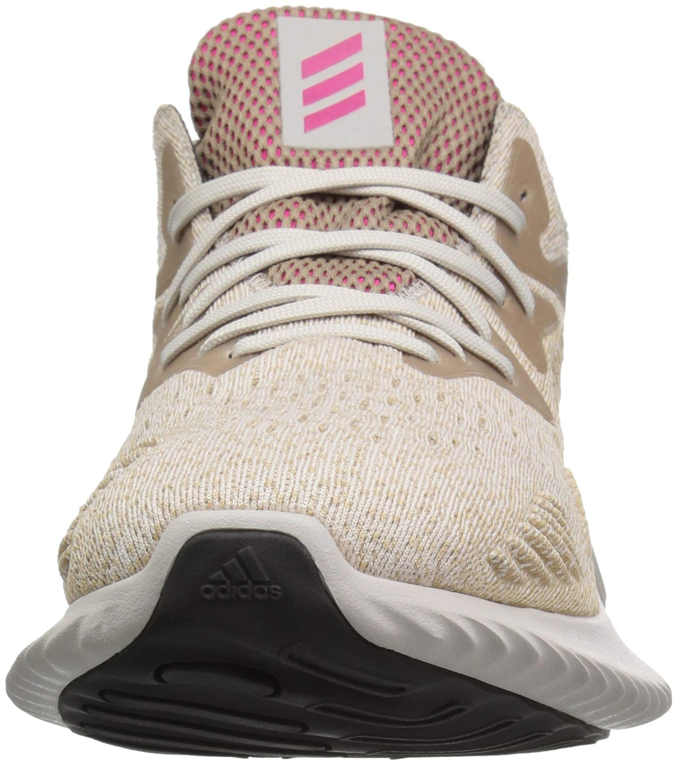 adidas Men's Alphabounce Beyond Running Shoe, Chalk Pearl/Shock Pink/Trace Khaki, 7.5 M US by adidas (Image #4)