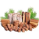 ACMETOP Aromatic Cedar Blocks for Clothes Storage, 100% Natural Cedar Balls Hangers Clothes Protector, Storage…