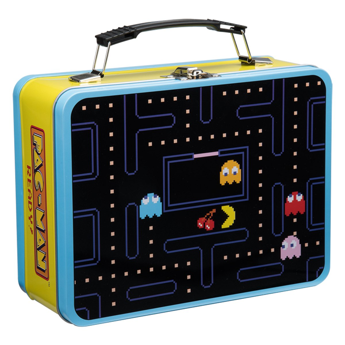 Vandor 12 PACMAN Large Tin Tote Multicolored Delectable Pac Man Recycling Bins And Re