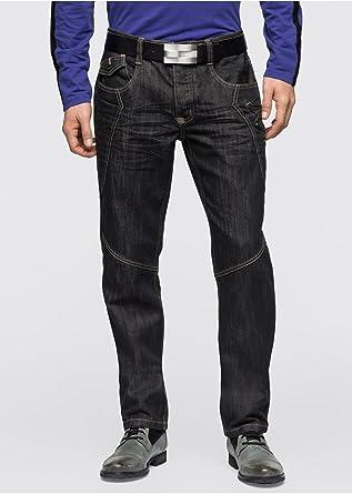 96818178686b Herrenjeans Gr. 32 33 34 36 38 40 Inch 32 lang schwarz regular fit Jeans