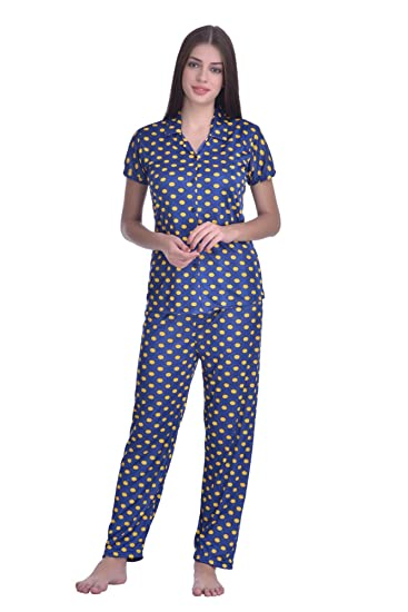 ca0a409067 Adonia Women s Poly Cotton Night Suit (Blue