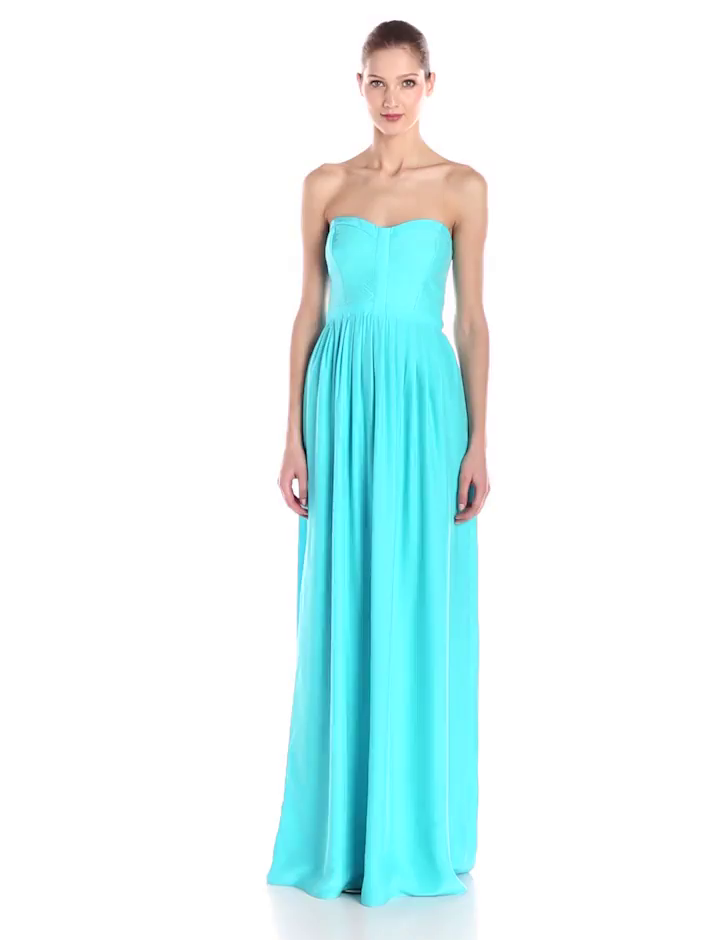 Amazon Com Parker Women S Bayou Silk Strapless Gown Clothing