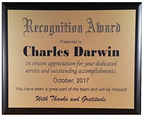 amazon com recognition plaque award customized to your