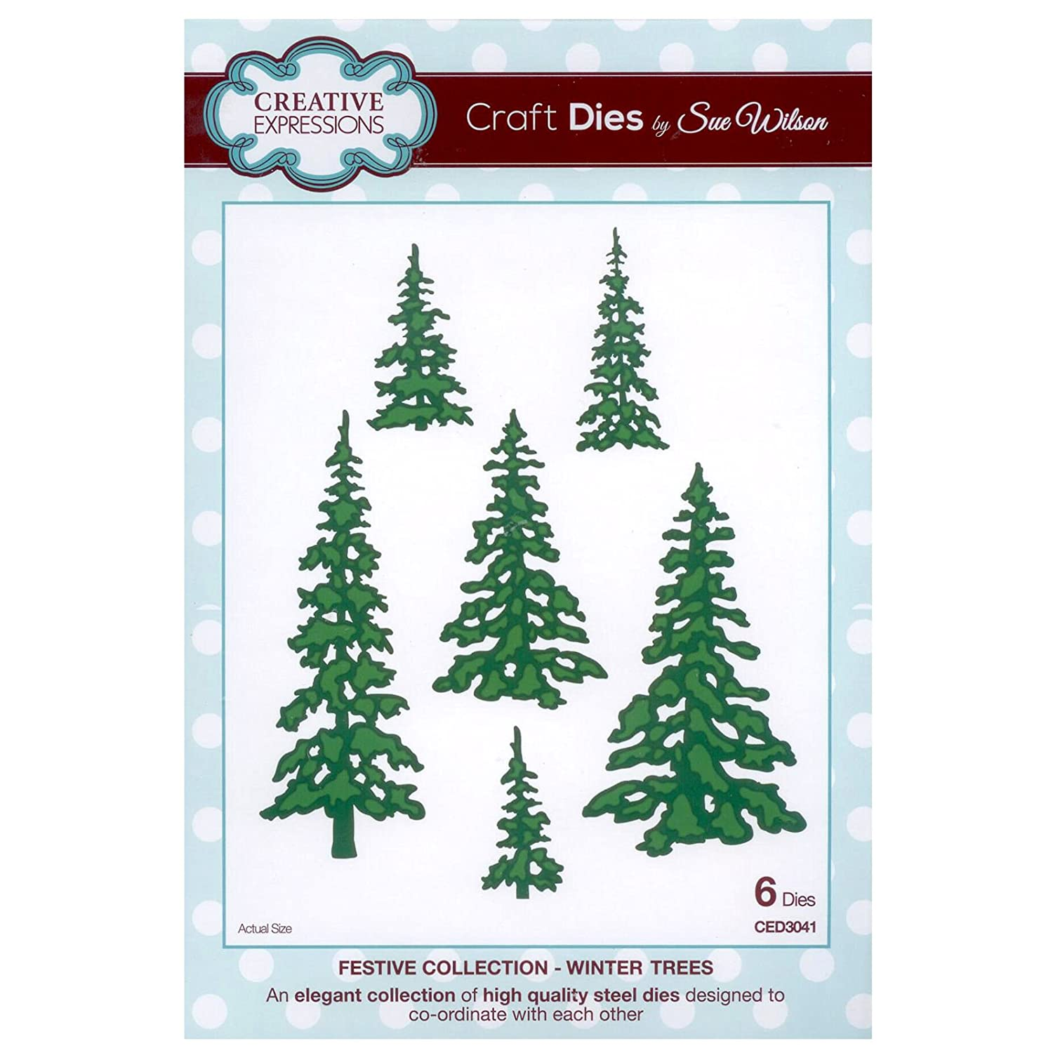 Creative Expressions Festive Collection  Winter Trees Die Set By