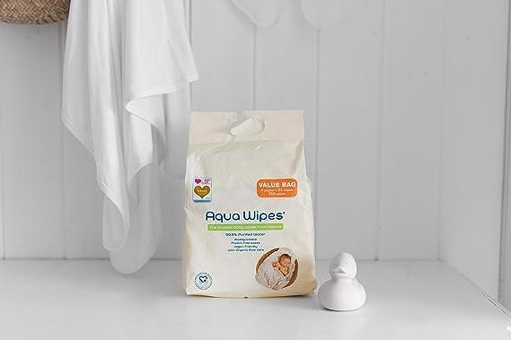 plastikfrei Parf/ümfrei 100/% biologisch abbaubar Aqua Wipes Baby T/ücher 99,6/% gereinigtes Wasser Parabenfrei vegan NHS-zertifiziert 3 x 64 T/ücher, 192 T/ücher geeignet ab der Geburt