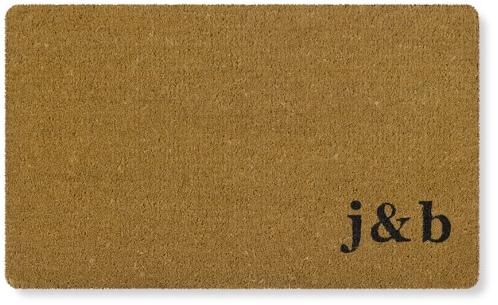 Double Initial Monogram Doormat | Williams-Sonoma