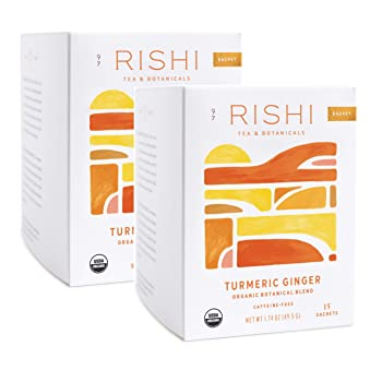 RISHI TEA 15 Sachets Herbal Ginger Tea