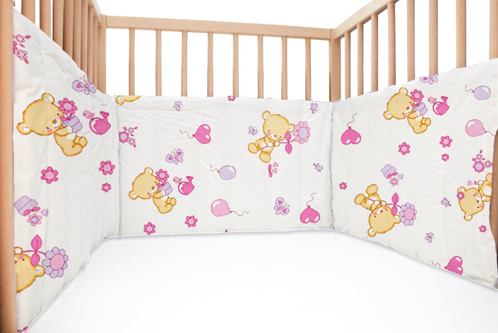 Baby Bears / SoulBedroom Cotton Cot Bumper Pad Half (210x40 cm)