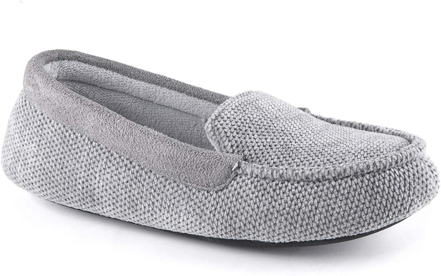 RockDove Women's Chenille Fabric Work-from-Home Slipper with Memory Foam