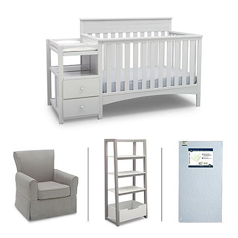 Amazon.com: Delta Children Presley 4-Piece Nursery – Juego ...