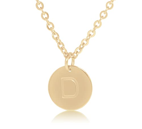 Amazon 18k gold plated round disc engraved initial pendant 18 18k gold plated round disc engraved initial pendant 18 adjustable necklace with personalized alphabet aloadofball Images